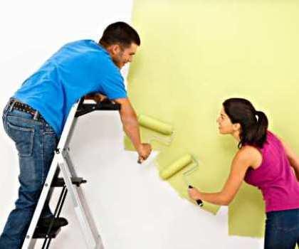 Preparativos para pintura
